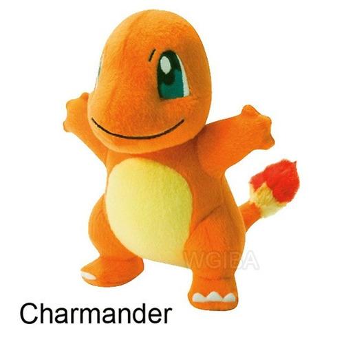 kit 4 pelucias pokemon pikachu bulbasaur charmander squirtle