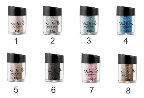 kit 4 pigmento vult gliter sombra cores