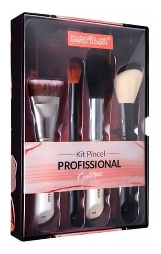 kit 4 pinceis -profissional contorno wb600 - macrilan