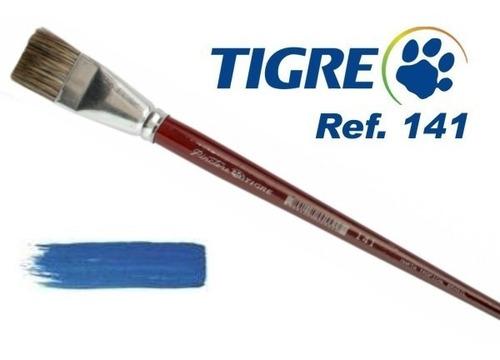 kit 4 pincel tigre 141 pêlo marta tropical chato 0-02-04-06