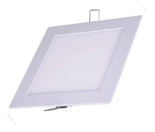 kit 4 plafon led quadrado embutir 6w classe aaa luminária