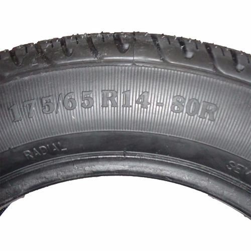 kit 4 pneu remold barrela aro 14 175/65 80r novo