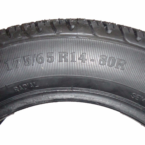 kit 4 pneu remold barrela novo aro 14 175/65 80r