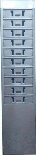 kit 4 porta-cartão de aço para 10 cartões de ponto