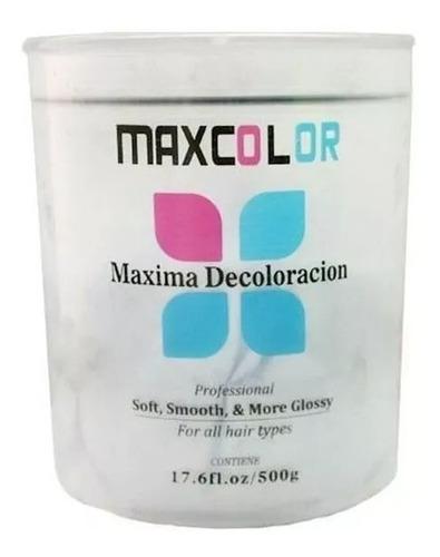 kit 4 pote de  polvo decolorante maxcolor 500g