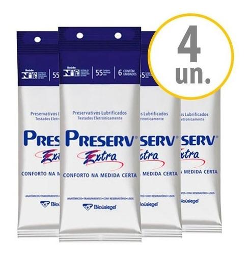 kit 4 preservativos preserv extra