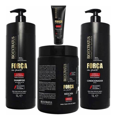 kit 4 produtos  força com pimenta bio extratus