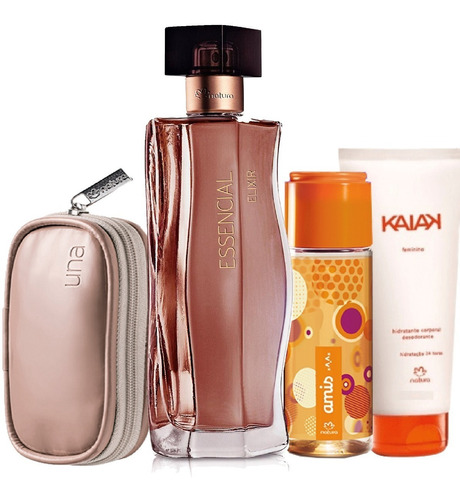 kit 4 produtos natura essencial elixir amis nec. una h kaiak