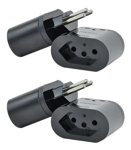 kit 4 protetor surtos raios dps pocket 3 pinos 10201 clamper