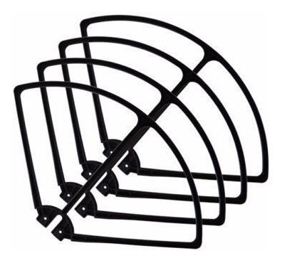 kit 4 protetores de helices (branco) drone syma x8w x8c x8g