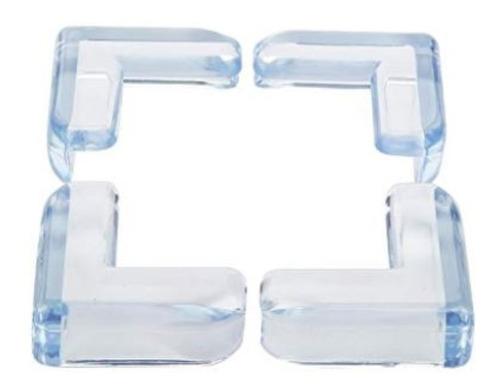kit 4 protetores de quina angulares kababy transparente .