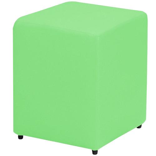 kit 4 puffs pufs quadrads para decoração courvin verde