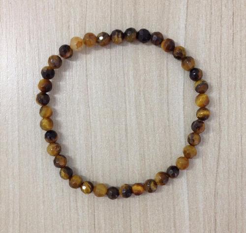 kit 4 pulseiras masculinas couro olho tigre cruxifixo cruz