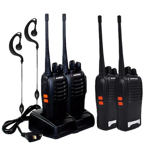 kit 4 rádio comunicador baofeng bf-777s walktalk full