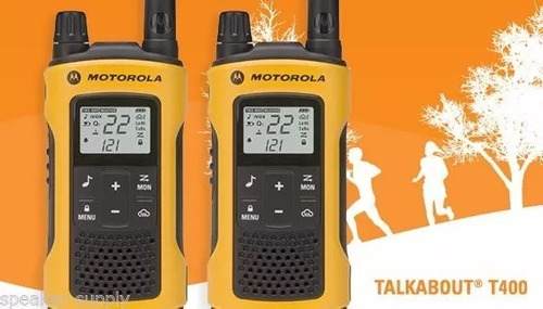 kit 4 radio comunicador motorola t400mc 56km fone nota fisca