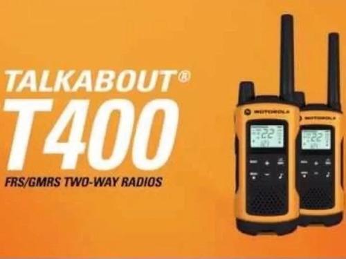 kit 4 radio comunicador motorola talkabout t400mc 56km