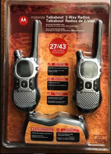 kit 4 radios comunicadores motorola talkabout mj270 mr