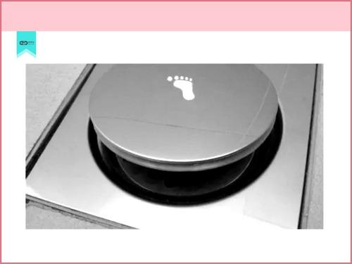 kit 4 ralos click pop up inteligentes 15x15 inox emma decor