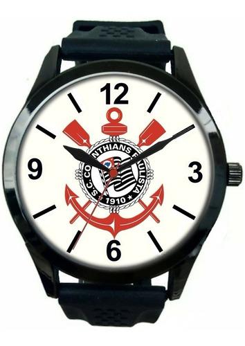 kit 4 relógio pulso personalizado torcedor corinthiano fiel