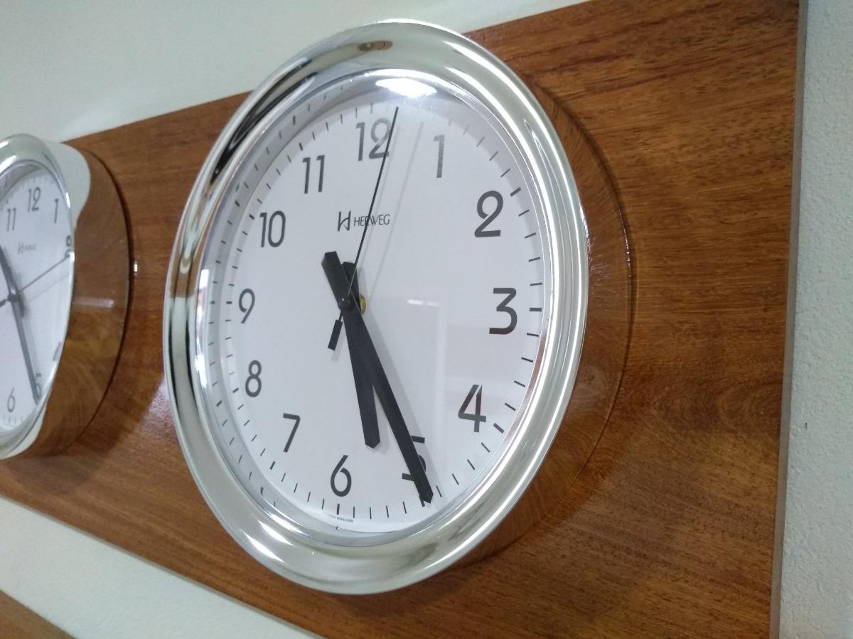 423fd49ff51 kit 4 relógio silencioso d fuso horário cromado 30 cm 160 cm. Carregando  zoom.