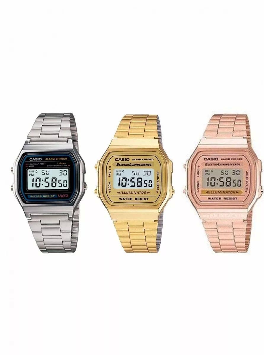 cd9a88564e28 kit 4 relógios casio retro vintage promoção. Carregando zoom.
