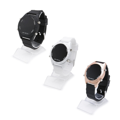 kit 4 relógios feminino cores led atacado/revenda + caixa