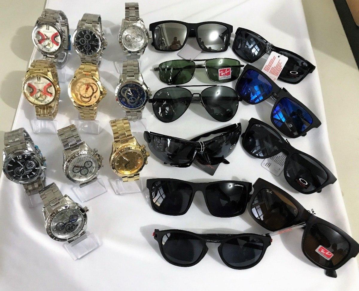 25f2c3fc4d8 Kit 4 Relógios Masculinos + 4 Óculos + Caixa Melhor Preço - R  167 ...