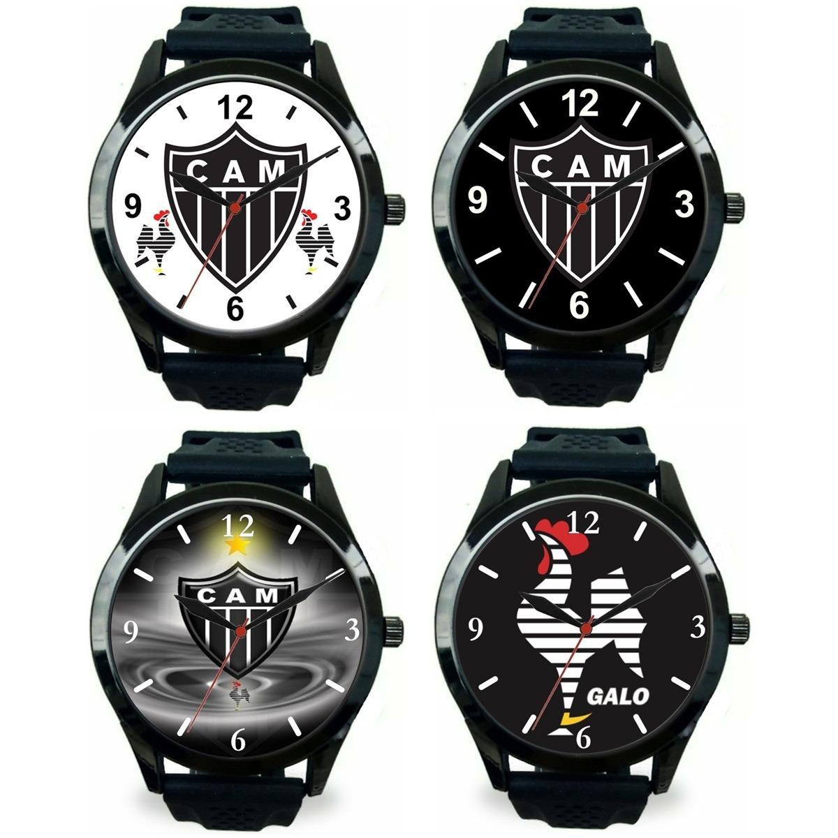 6a35347dfb811 kit 4 relógios pulso esportivo atlético mineiro barato. Carregando zoom.