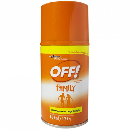 kit 4 repelente off family aerosol - 165ml cada