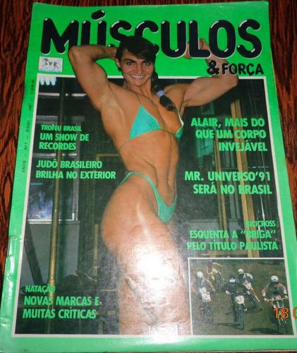 kit 4 revista rara músculo e força antiga com marca de uso