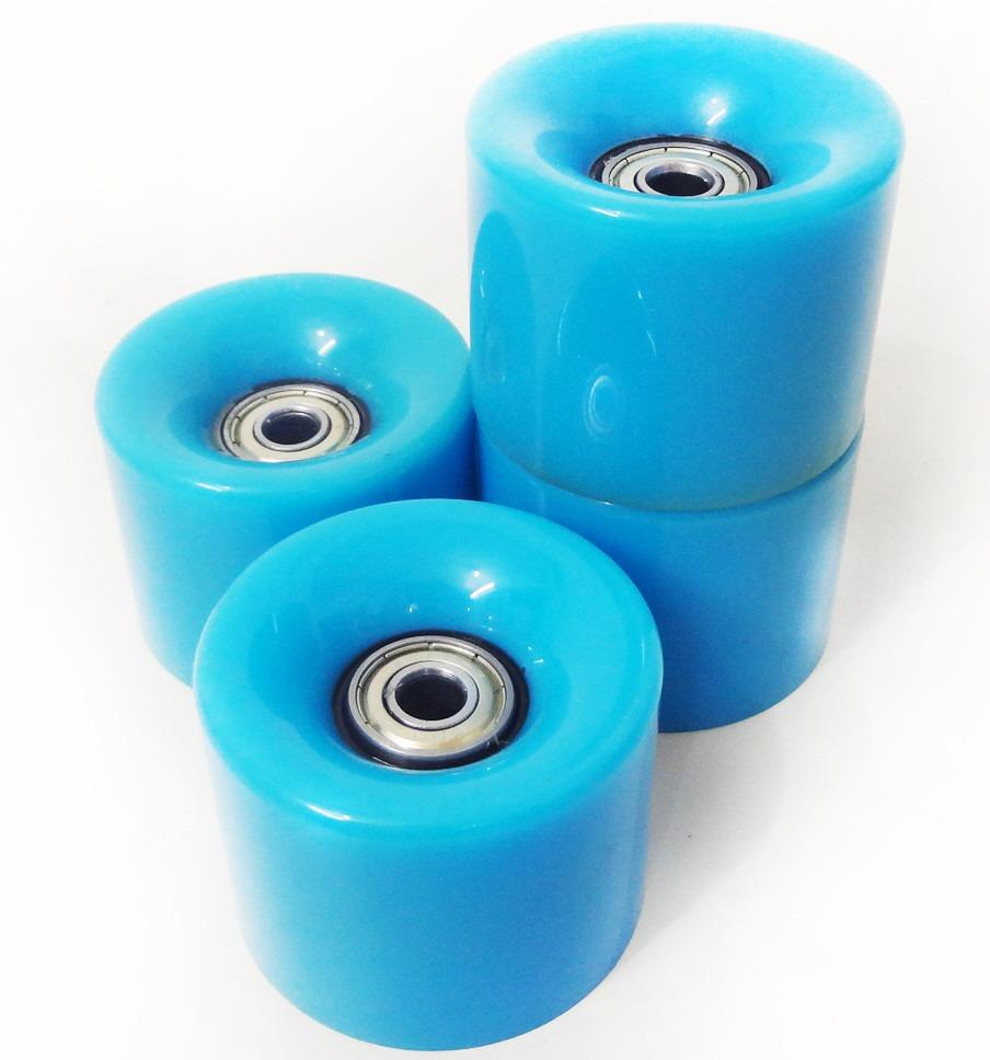 e44fb17d044 kit 4 rodas skate silicone longboard mini long rolamento. Carregando zoom.