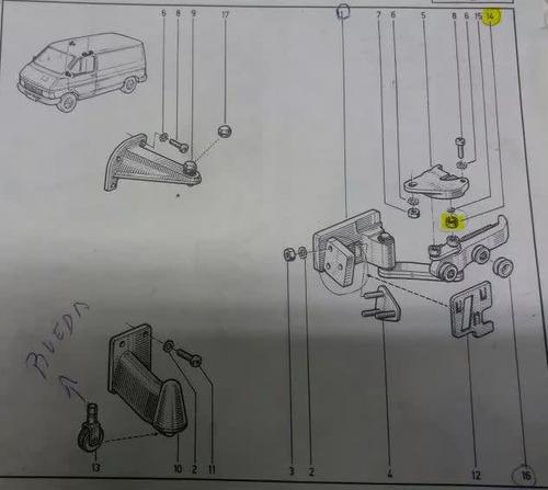 kit 4 rodillos porton lateral trafic hasta 1996