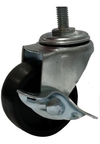 kit 4 rodízio giratório pp rodinha 50mm 120kg