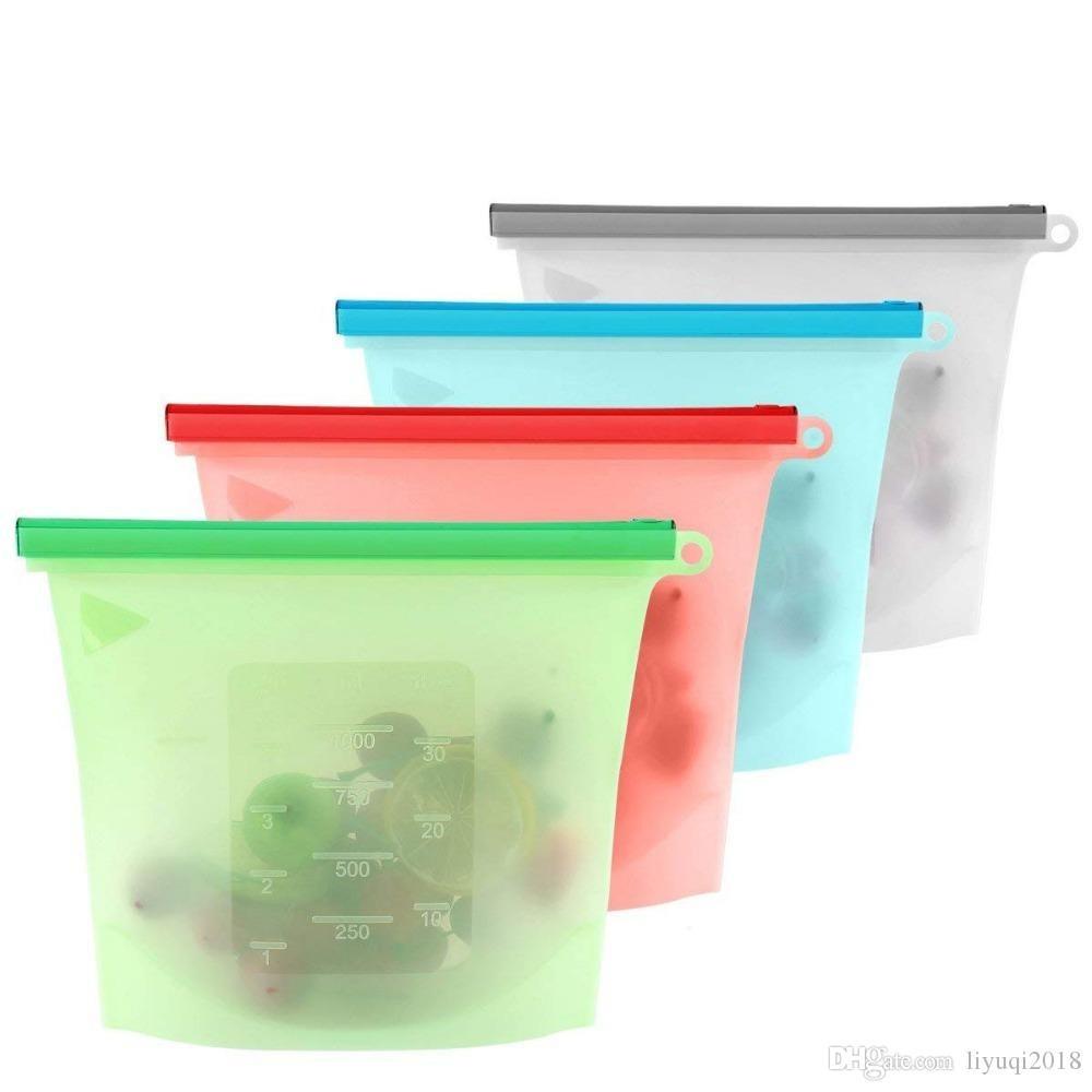 Kit 4 Sacos de Silicone BPA
