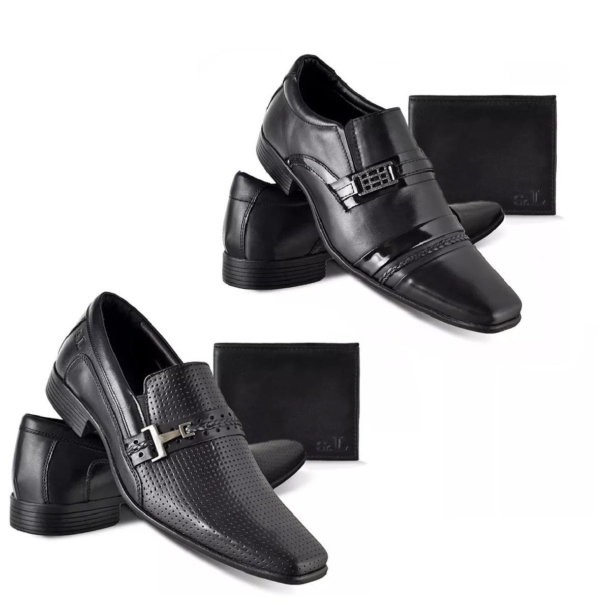 947103d7b Kit 4 Sapatos Social (atacado) Em Couro Legítimo+ 4 Carteir - R$ 249 ...
