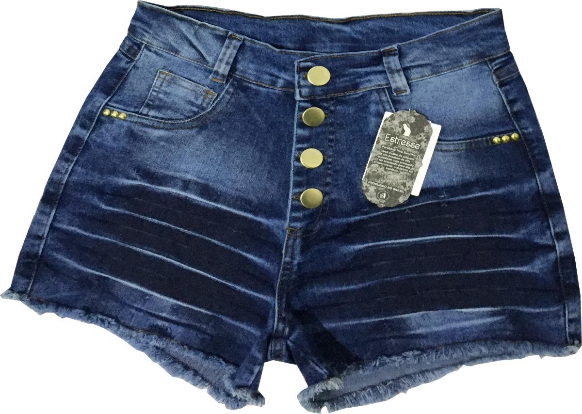 ed672fe18 kit 4 short jeans feminino cintura alta hot pants atacado. Carregando zoom.