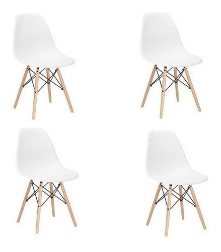 kit 4 sillas charles eames madera - eiffel