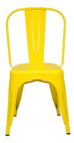 kit 4 sillas interlocutora comedor restaurante metalica