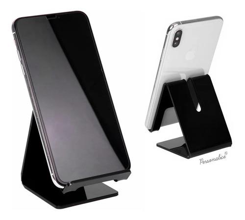 kit 4 suportes celular smartphone iphone display mesa univer