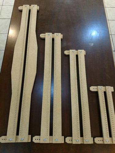 kit 4 tear prego aço regulável 100,70,50,25 + frete grátis