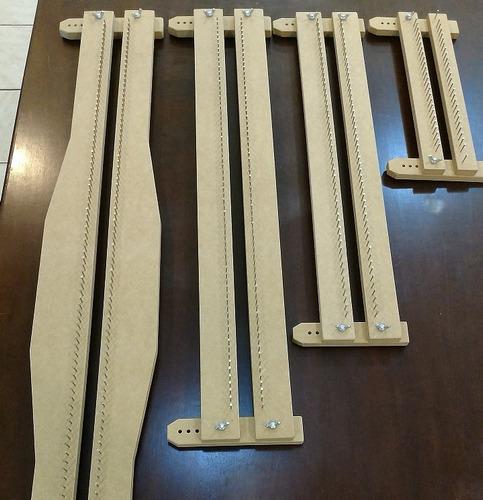 kit 4 tear prego regulável - 100cm 70cm 50cm 27cm + agulha