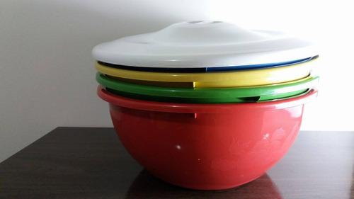 kit 4 tigela c/ tampa utilidades domésticas frete grátis