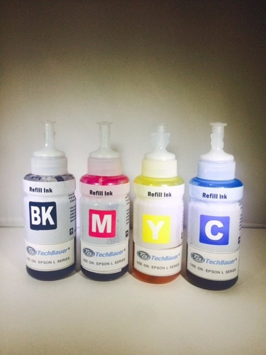 kit 4 tintas para epson series l:  l200 l355 l555 l800 70 ml