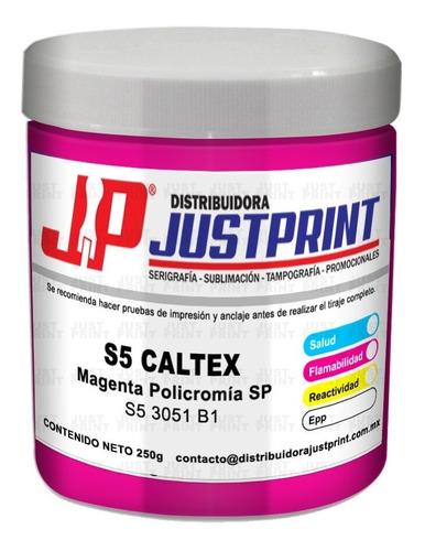 kit 4 tintas policromia caltex  cmyk serigrafia 250 grs c/u
