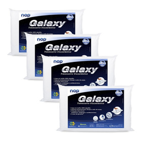 Kit 4 Travesseiros Nasa Nap Galaxy Viscoelástico