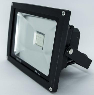 kit 4 uni refletor de led 20w rgb ip66