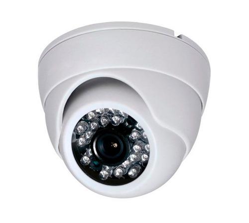 kit 4 unid camera dome p/ dvr infra vermelho 24 led linha px