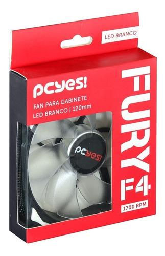 kit 4 unid. cooler pcyes fury - f4 3 opções de cor