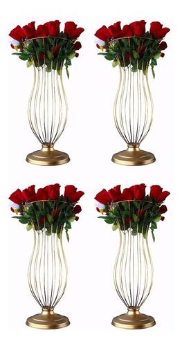 kit 4 vasos armação pedrarias casamento 60cm frete grátis