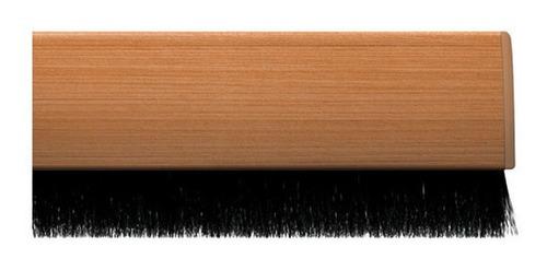 kit 4 veda portas 80 cm ajustáveis universal marrom claro